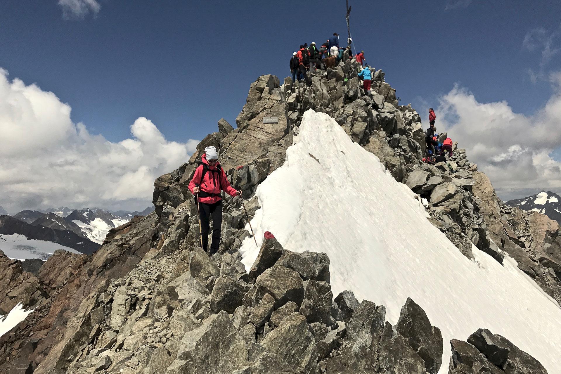 Der beeindruckende Gipfel des Wilden Freigers